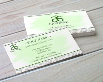 Arbonne Inspired Business Card - Damask - Digital Download - Printable Business Card - Printable Arbonne