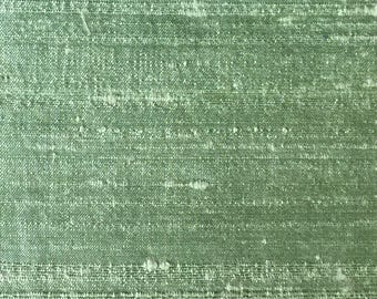 MINT GREEN 2097-2G -  Pure Silk Dupioni Fabric - Handwoven