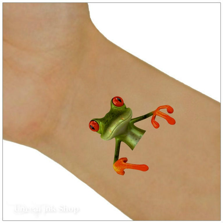 Temporary tattoo frog waterproof ultra thin realistic fake for Cotto new tattoo