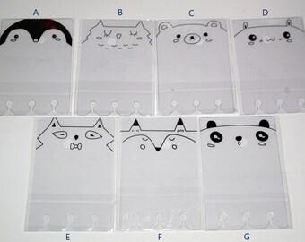 Animal Washi Tape Sample Card, Small Washi Tape Sample Card, PVC Washi Tape Sample Card, Washi Tape Storage, Washi Tape Holder, Washi Tape