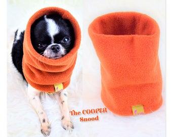 "PETiRO "" COOPER"" fleece snood for dog | cat. Dog neck warmer. Purple Dog & cat scarf. Fashion Cowl scarf."