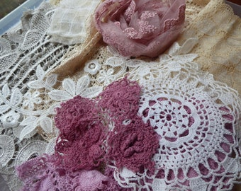 Hope jacare  - A mixture of new and vintage laces and fabrics-  Lace18