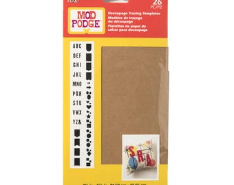 Mod Podge Decoupage Tracing Template