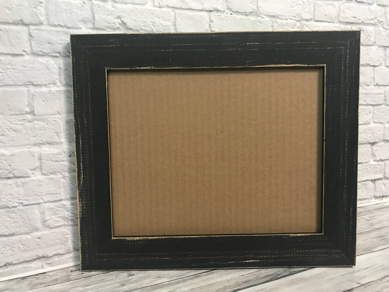 Black Rustic Frame Black Rustic Frame 12x16 Black Distressed