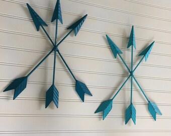 Arrow Wall Decor -Gallery Wall - Nursery - Metal Wall Arrow - Teal - Gallery Wall Arrow -Turquoise -Metal Wall Art