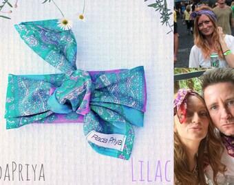 RadaPriya Silks Multi-Use Headscarf Hairbow Neckscarf Napkin