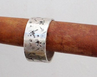 Men's rustic ring , Sterling Silver Mens ring , Wedding Ring for Men , Rustic wedding band , Ring for him