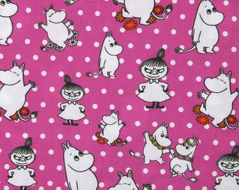 43091 100*147cm cartoon Moomin fabric patchwork printed cotton fabric