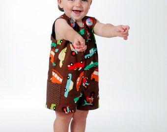 Boy Sunsuit - Suit Boy Romper - Summer Jon Jon Shortall PDF Pattern Reversible Overall Pattern, Children 6M - 6 CH  Instant Download