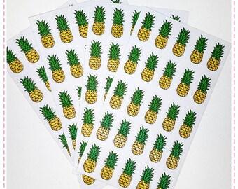 25 Cute Pineapple stickers for Kikki-k, filofax, Erin Condren,  midori, fauxdori, planners.