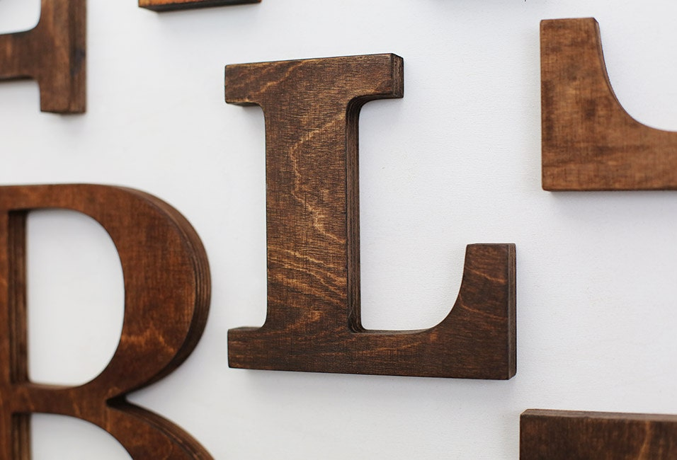 Wood letters for wall wall letter rustic letters letters