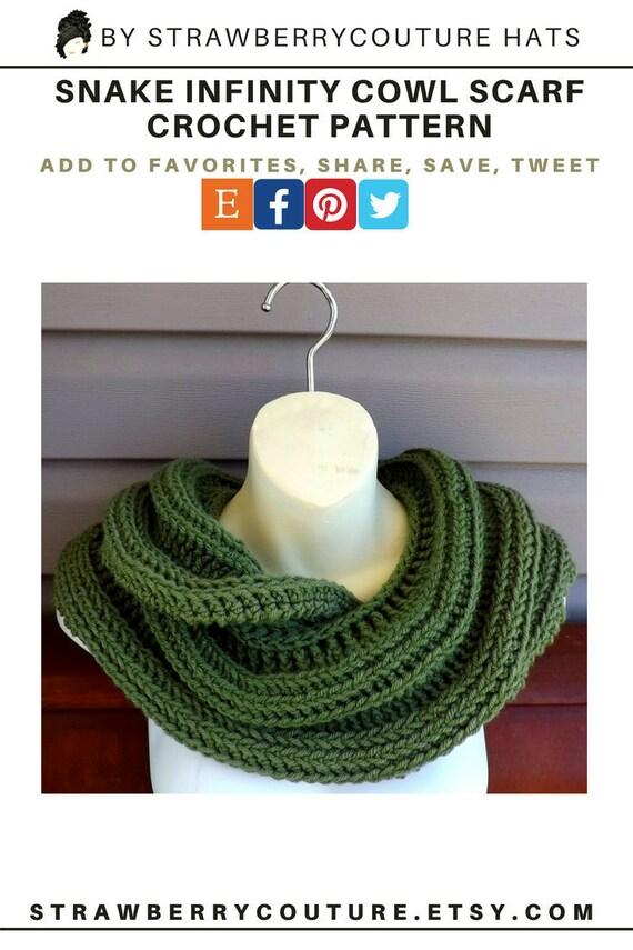 Crochet Cowl Pattern Crochet Pattern Crochet Scarf Cowl