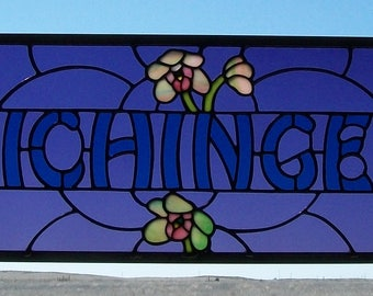 Custom Stained Glass Panels, Surname Signs, Wedding Gift for Bride and Groom