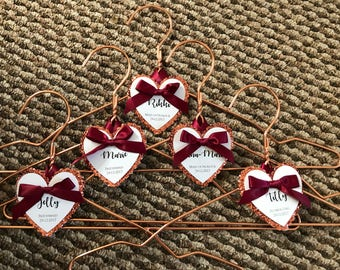 Personalised bridesmaids hangers