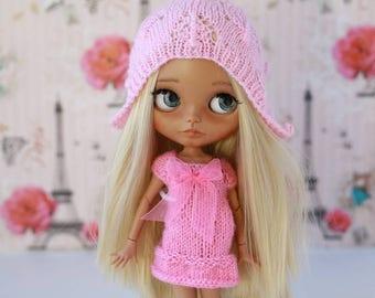 Knitted hat  for custom Blythe doll