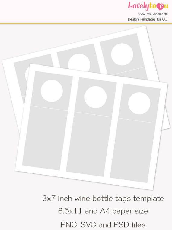 wine bottle hang tag template printable blank craft sheet. Black Bedroom Furniture Sets. Home Design Ideas