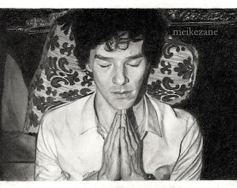 Drawing print Sherlock / Benedict Cumberbatch - A4