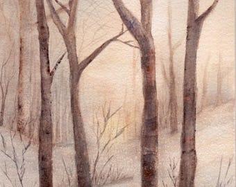 """Art Card - """"A Winter Snapshot"""""""
