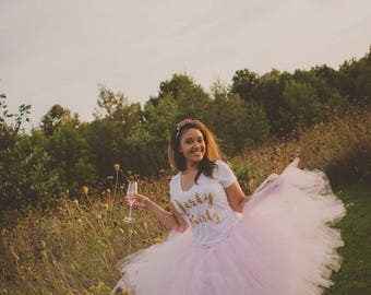 """Light Pink Adult Tutu for waist 35"""" up to 45"""" great for Halloween, Birthdays, Dance and Bachelorette parties"""
