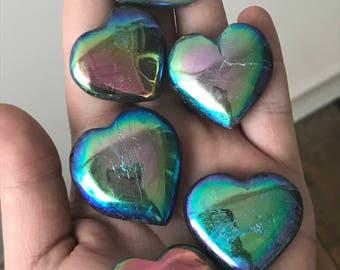 Angel Aura Labradorite Hearts-Polished
