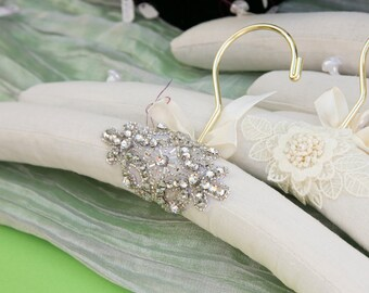 Bridal Hanger, Wedding Hanger Custom Embellished with Rhinestones, Vintage Hanger, Photography Prop, Wedding Gift