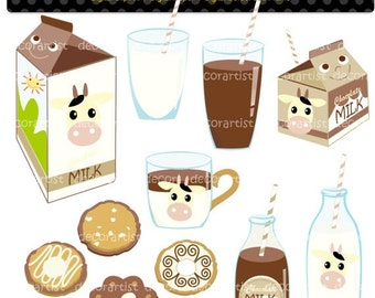 ON SALE clipart, cookies clipart, biscute clipart, Chocolate Milk Graphics, Cookies and Milk Clipart, Milk Carton,happy chocolate mil