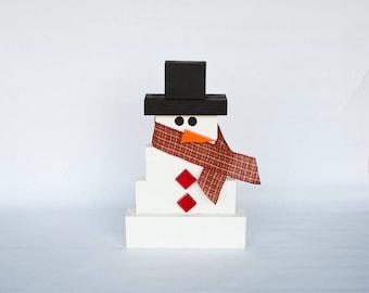 Rustic Wooden Snowman; Winter Decor, Christmas Decor, Primitive Snowman, Farmhouse Christmas Decor; Wood Snowman; Christmas Snowman