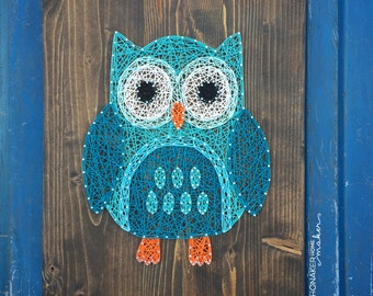 READY TO SHIP String Art Owl Sign
