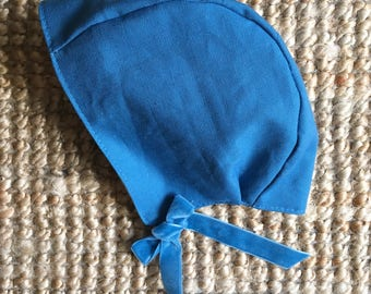 Winter Linen Bonnet
