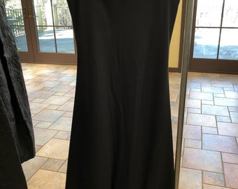 90s Classic Black Evening Dress