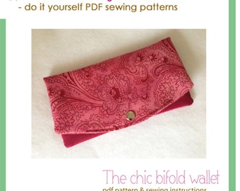 The chic bifold wallet - PDF sewing pattern