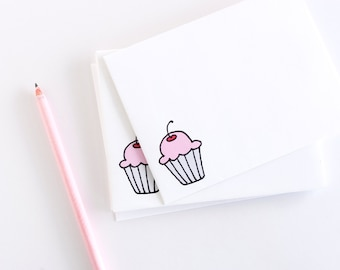 Illustrated Envelopes - Set of Cupcake Envelopes - Birthday Envelope Pack - Cute Envelopes
