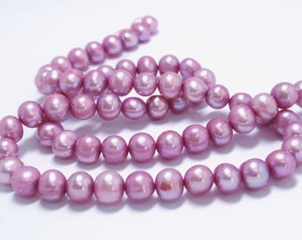 "Light Purple Freshwater Potato Pearls, 6-6.5mm Freshwater Potato Pearls, 16"" Strand - 68 Beads"