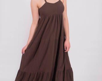 Womens Gauze  Summer Beach Layer Boho Dress, Plus size.