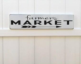 Farmers Market Sign   Hand Painted Sign   Rustic Modern Farm House   Wooden Signs   Farmhouse Artwork   Farmhouse Decor   Fixer Upper