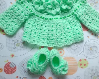 bra and matching 3 month baby booties