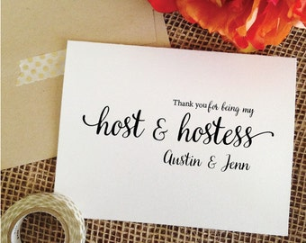 THANK YOU for being my host and hostess card (Lovely)