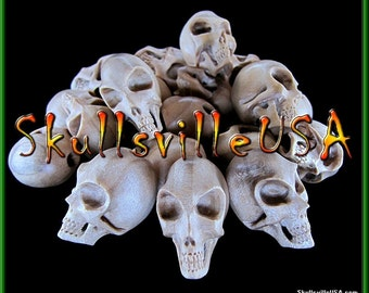 Alien Skull Beads - Individually Hand-carved From Crocodile Wood