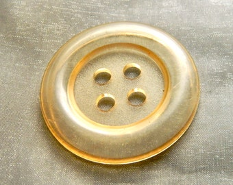 """Very Large Pale Yellow Vintage 1960's Button - 2"""""""