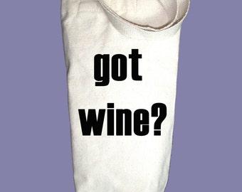 Got Wine  Canvas Alcohol/Wine Gift Bag