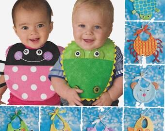 Baby Bib Sewing Pattern Ladybug bib, Turtle Bib, Alligator Bib, Owl Bib, Bee Bib, Baby Shower Gift, Baby Present