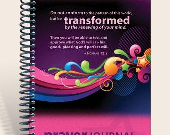 Prayer Journal Personalized - Retro Girl Romans 12:2