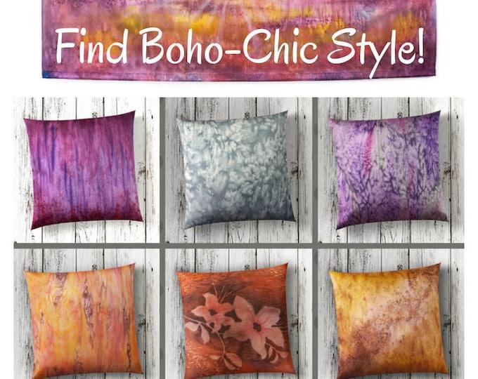Sunrise Tapestry-Watercolor Silk Tapestry-Desert Decor-Coastal Decor-Sky Art-Bohemian Decor-Horizontal Wall Art-Watercolor Home Decor
