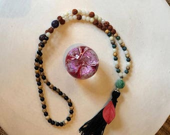 The Autumn Restorative Mala - This Mala will Ground you during Ayurveda's VATA Season. Multiple Earthy Fall Stones  to Fortify You.