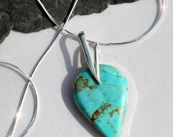 Desert Sky - Turquoise Sterling Silver Necklace