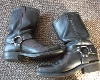 Men's Chippewa Vintage WELL WORN Harness Boots Engineer Boots Motorcycle Boots Biker Boots TRASHED