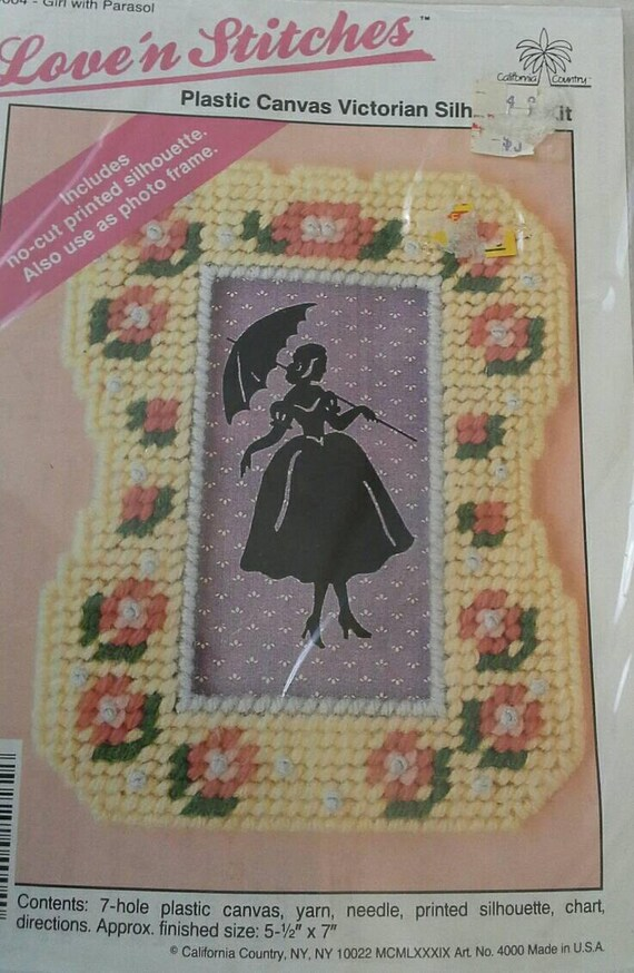 Small Plastic Canvas Kit Love N Stitches Framed Victorian