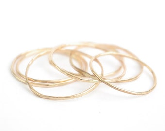Thin Gold Band - Simple 14K Gold Ring