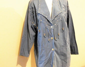 Vintage Denim Urban Cowgirl Jacket