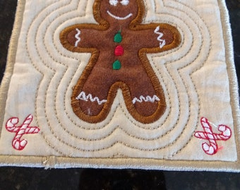 Gingerbread Mug Rug Coaster